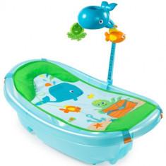 Set Cadita si Suport de Baita Ocean Buddies Blue - Cadita bebelusi