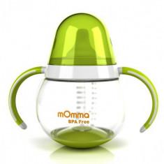 Canuta Verde cu Manere 250 ml - Vesela bebelusi