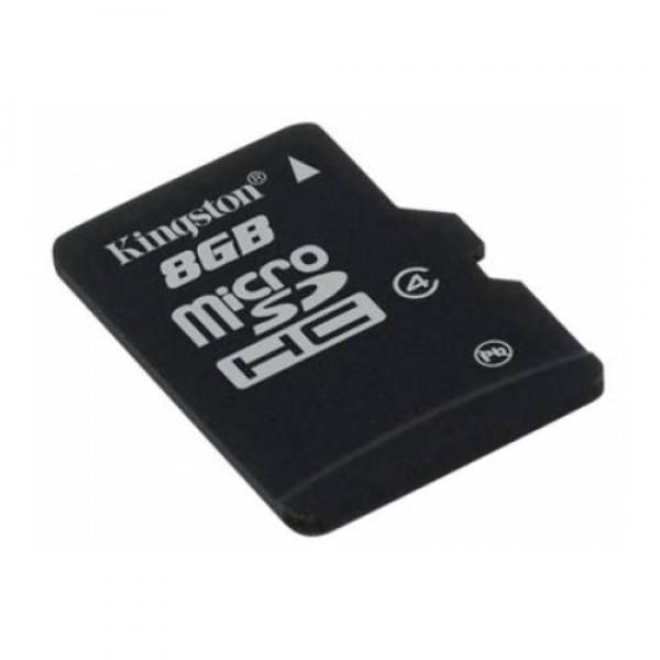 Card memorie Kingston Micro-SDHC 8GB Class 4 Single Pack foto mare