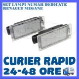 SET LAMPI PLACUTA INMATRICULARE - RENAULT MEGANE, CLIO, LAGUNA, TRAFIC, TWINGO - Led auto ZDM, Universal
