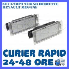 SET LAMPI PLACUTA INMATRICULARE - RENAULT MEGANE, CLIO, LAGUNA, TRAFIC, TWINGO