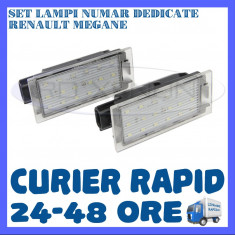 SET LAMPI PLACUTA INMATRICULARE - RENAULT MEGANE, CLIO, LAGUNA, TRAFIC, TWINGO ZDM, Universal