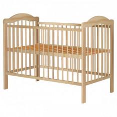 Patut din Lemn Lizett Natur - Patut lemn pentru bebelusi, 120x60cm, Maro