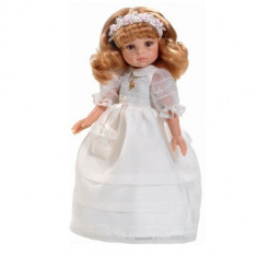 Papusa paola reina Dasha Rubia Comunion, 4-6 ani, Plastic, Fata
