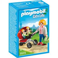 City Life - Carucior cu Gemeni - Figurina Povesti Playmobil