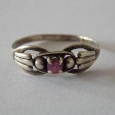 Inel argint cu zirconiu vintage -1548
