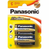 Set 2 Baterii Tip C Alkaline Power, Panasonic