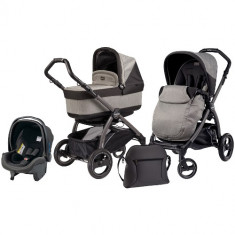 Carucior 3 in 1 Book Plus S Black POP-UP Atmosphere - Carucior copii 2 in 1 Peg Perego