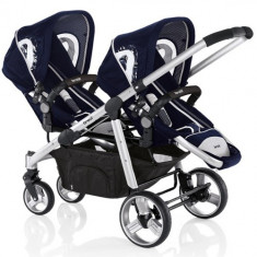 Carucior Ovo Twin Albastru - Carucior copii 2 in 1 Brevi