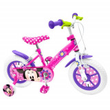 Bicicleta Minnie Mouse, 12 inch, Stamp