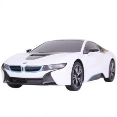 Masinuta Rastar cu Telecomanda BMW i8, Scara 1:18 Alb