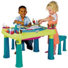 Masuta de Activitati cu 2 Scaunele - Casuta copii