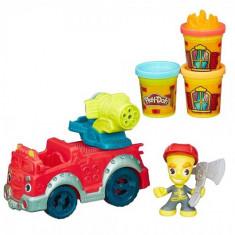 Set Plastilina Play Doh Masina Pompierilor - Jocuri Logica si inteligenta Hasbro