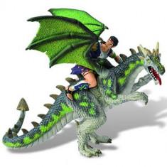 Figurina Luptator pe Dragon Verde - Figurina Povesti Bullyland