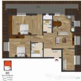 Apartament 4 camere 185mp stradal sos.Alexandriei - Apartament de vanzare, 105 mp, Numar camere: 4, An constructie: 2017, Etajul 3