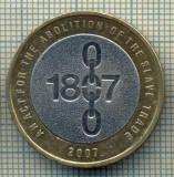 9739 MONEDA -MAREA BRITANIE -2 POUNDS(SCLAVIA) -anul 2007 -starea care se vede, Europa