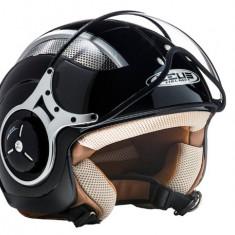 Casca Scooter/Motocicleta jet de vara, viziera medie, negru Zeus H007 - Casca moto, Marime: XL