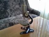 Microscop optic vechi J. Rosenbaum in cutia originala functional