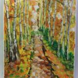 In padure 1-pictura ulei pe panza;MacedonLuiza - Pictor roman, Peisaje, Impresionism