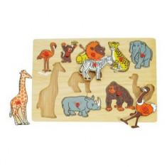 Puzzle Bigjigs - Jungla Animalelor Vesele