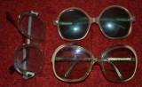 Lot 3 perechi ochelari vechi (2 perechi de soare + 1 pereche de vedere)