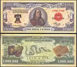 !!! SUA = FANTASY NOTE = BENJAMIN FRANKLIN , PARINTE FONDATOR - 2011 - UNC