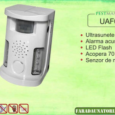 Bird Ultrasound Repeller antipasari, antirozatoare Pestmaster UAF03