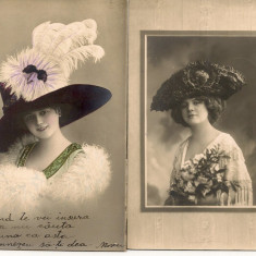 Scene romantice - lot 10 carti postale vechi, Circulata, Printata, Europa