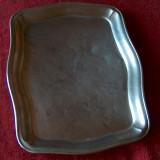 Tavă alpaca vintage - Metal/Fonta