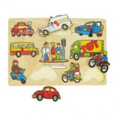 Puzzle Bigjigs - Mijloace de Transport
