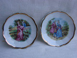 Doua farfurioare din portelan german Schwarzenhammer cu scene romantice