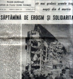 10 ziare din zilele cutremurului din 4 martie 1977