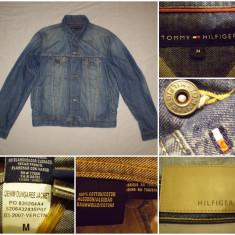 Geaca blugi TOMMY HILFIGER (M) primavara toamna casual ultras barbati jeans - Geaca barbati Fred Perry, Marime: M, Culoare: Din imagine