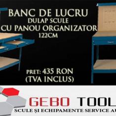 Banc de lucru dulap scule cu panou organizator 122 cm