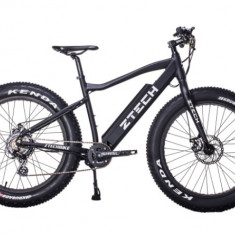 Bicicleta electrica cu cadru Aluminiu ZT-87 FAT-bike, 26 inch, Numar viteze: 7, Negru-Rosu