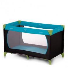 Pat Voiaj Dream and Play Water Blue - Patut pliant bebelusi Hauck, 120x60cm, Albastru