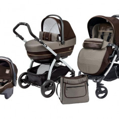 Carucior 3in1 Peg Perego Book Plus Completo - Carucior copii 3 in 1 Peg Perego, Maro