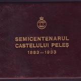 Romania 1933, Carnet filatelic jubiliar Semicentenarul Castelului Peles