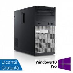 Calculator DELL GX990 Tower, Intel Core i5-2500, 3.30 GHz, 8GB DDR3, 320GB SATA, DVD-RW + Windows 10 Pro - Sisteme desktop fara monitor