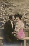 Indragostiti - lot 3 carti postale - 1908, Circulata, Printata, Europa