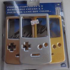 Set 3 Carcase colorate pentru Consola Nintendo Gameboy Color produs nou sigilat, Kit acceosrii