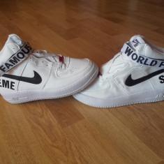 Ghete Adidasi Nike Air Force nr. 42 LICHIDARE DE STOC ! - Adidasi barbati Nike, Culoare: Alb