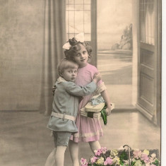 Copii - lot 5 carti postale, Circulata, Ambele, Europa