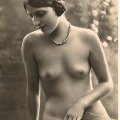 Nuduri - lot 5 carti postale vechi, Circulata, Printata, Europa