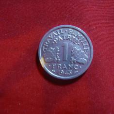 Moneda 1 franc 1943 Franta, aluminiu, Europa