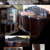 Chipendale, sufragerie veche din lemn de nuc, Sufragerii si mobilier salon, Chippendale, 1900 - 1949