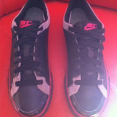 Nike originali,piele naturala,nr.39-25 cm., Negru
