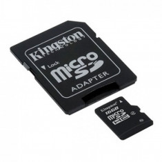 Card de memorie Kingston Micro SDHC 16GB Clasa 4 Adaptor SD