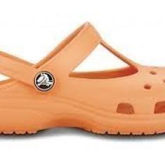 Saboti Crocs Candace marime C10/11 EU 27.5 - Slapi copii, Culoare: Orange