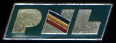 insignă PNL 1990 foto